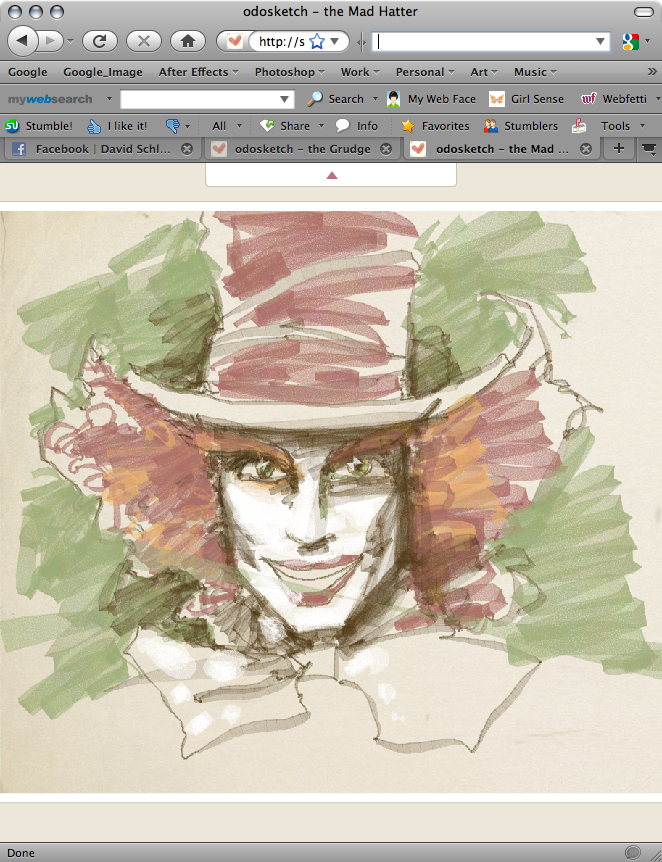 "This is a quick ""Mad Hatter"" as played by Johnny Depp sketch: CLICK HERE FOR"