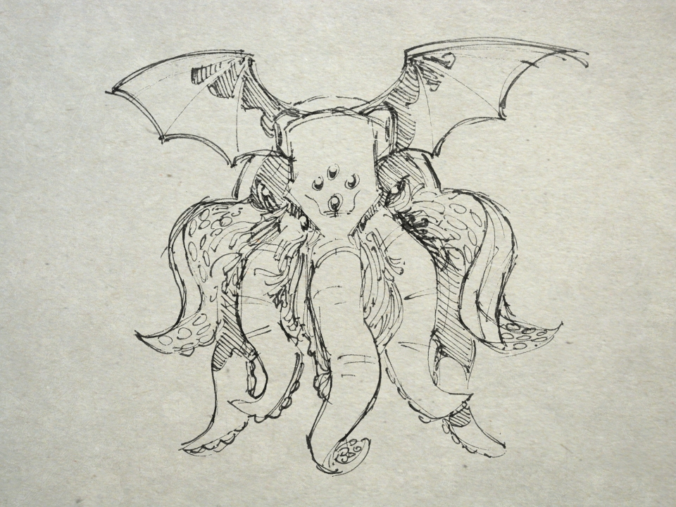 Squiddy squid face Cthulhu