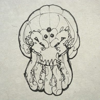 Pulpy squid head