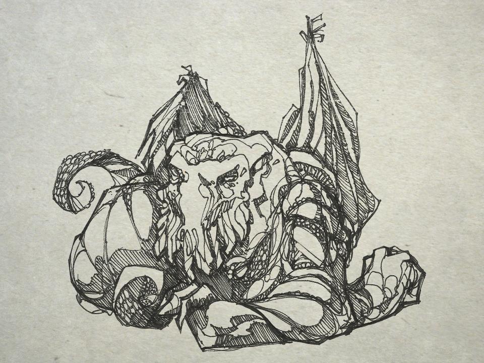 Cthulhu-Lounging-Dragon-like