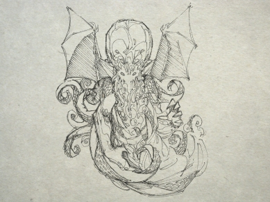 """There are some who are of the opinion that Lovecraft borrowed the name """"Cthulhu"""" from Sumerian mythology. This is a hoax perpetrated by the """"Simon"""" hoax edition of the Necronomicon which combines elements of Sumerian mythology and the Lovecraft myths."""