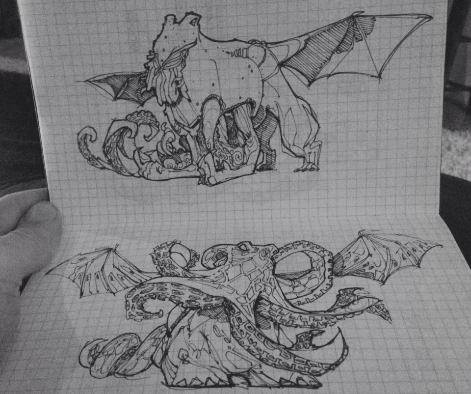 Sketches for upcoming Cthulathon posts.