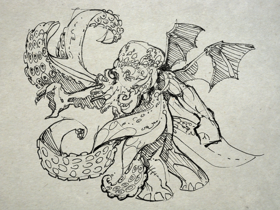 One Cthulhu drawing a day for one year.