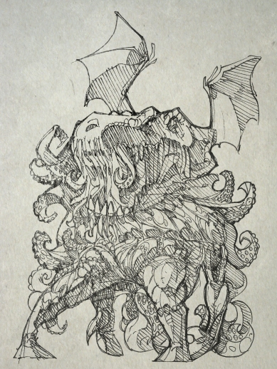 Cthulhu is often referred to in science fiction and fantasy circles as a tongue-in-cheek shorthand for extreme horror or evil.