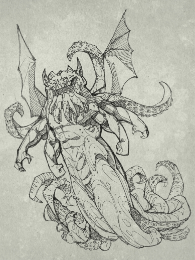 The stars were right again, and what an age-old cult had failed to do by design, a band of innocent sailors had done by accident. After vigintillions of years great Cthulhu was loose again, and ravening for delight.