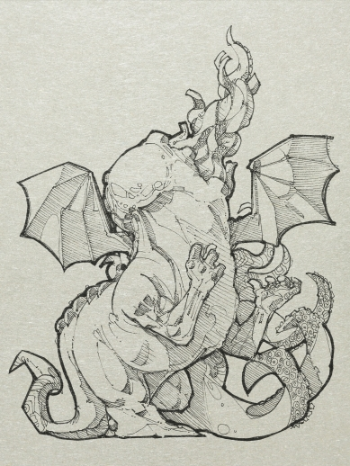 """: the Cthulhu Mythos. In 1937, Derleth wrote the short story """"The Return of Hastur"""", and proposed two groups of opposed cosmic entities: ... the Old or Ancient Ones, the Elder Gods, of cosmic good, and those of cosmic evil, bearing many names, and themselves of different groups, as if associated with the elements and yet transcending them: for there are the Water Beings, hidden in the depths; those of Air that are the primal lurkers beyond time; those of Earth, horrible animate survivors of distant eons."""