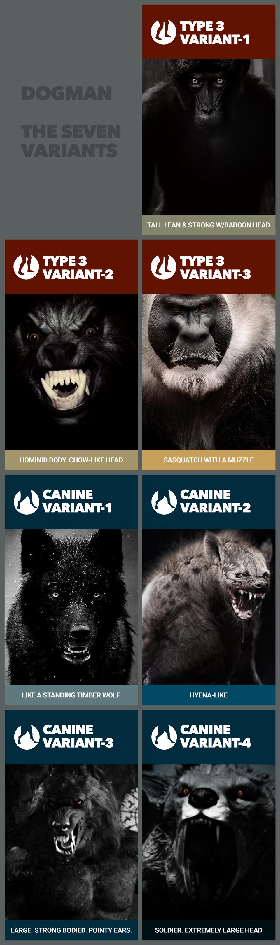 7 Types of Dogman
