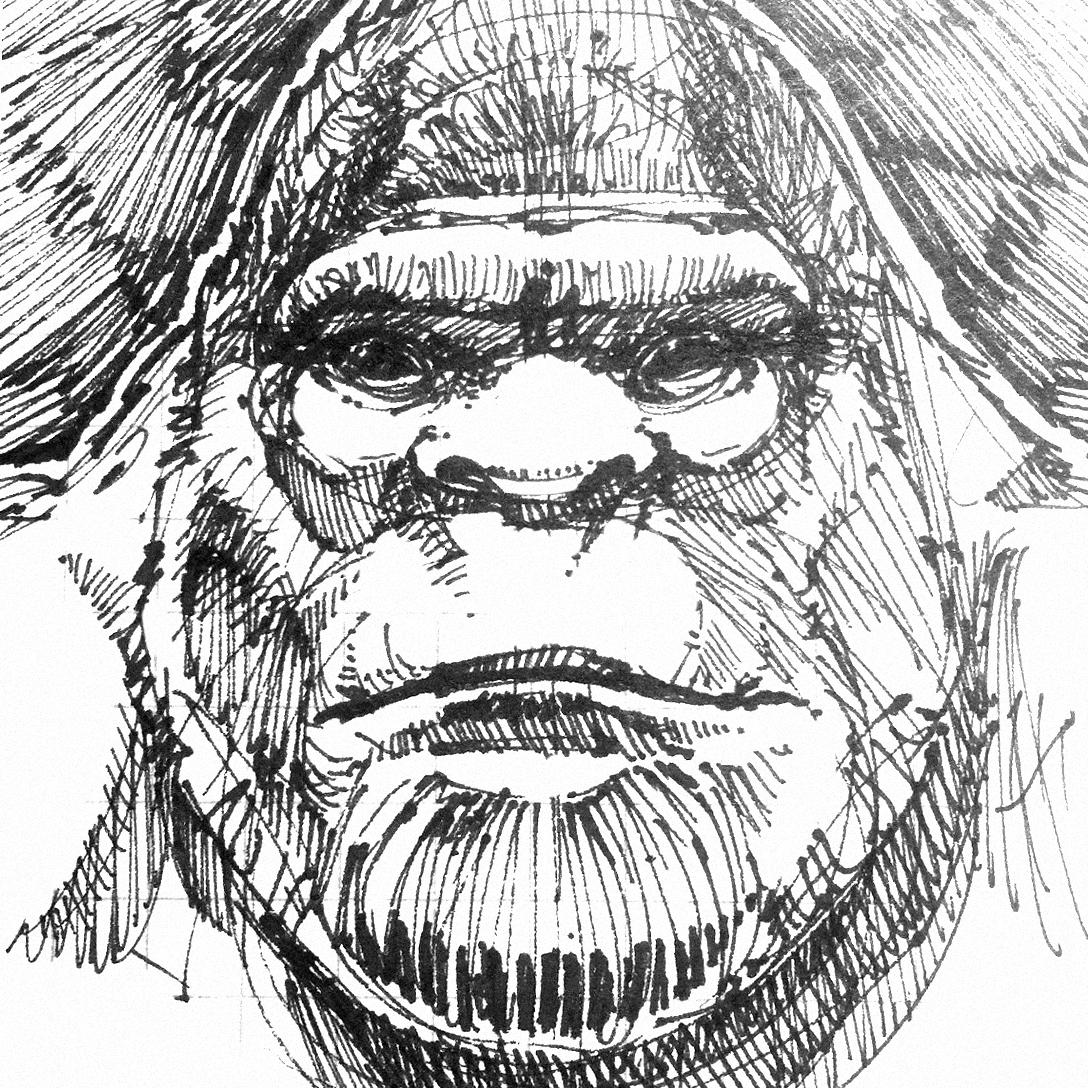bigfoot-face-sketch