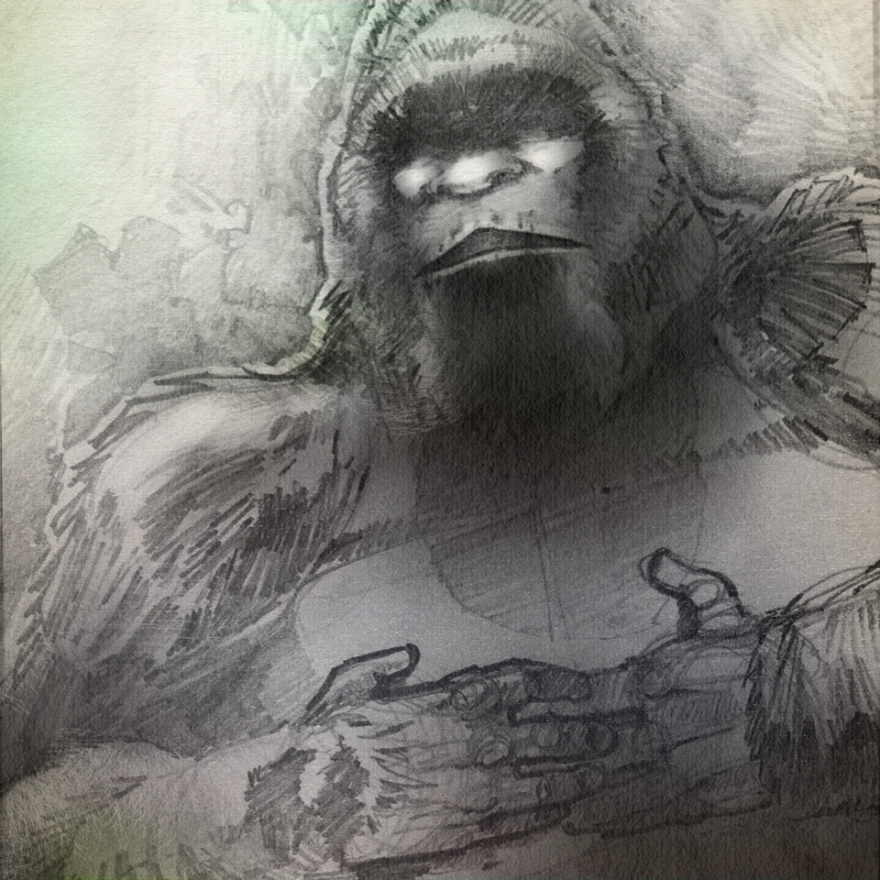 Bigfoot Sketch