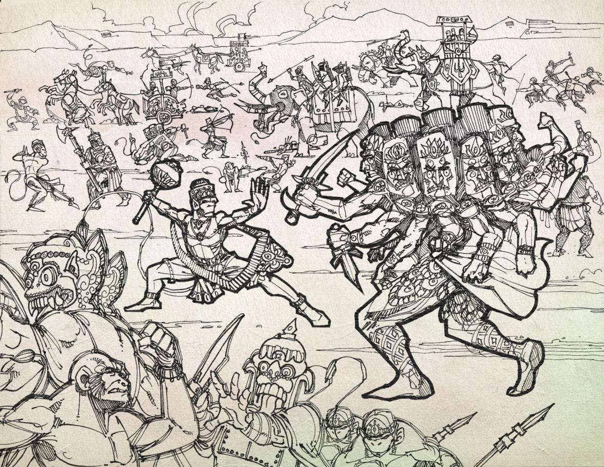 Hanuman-Ravana-1