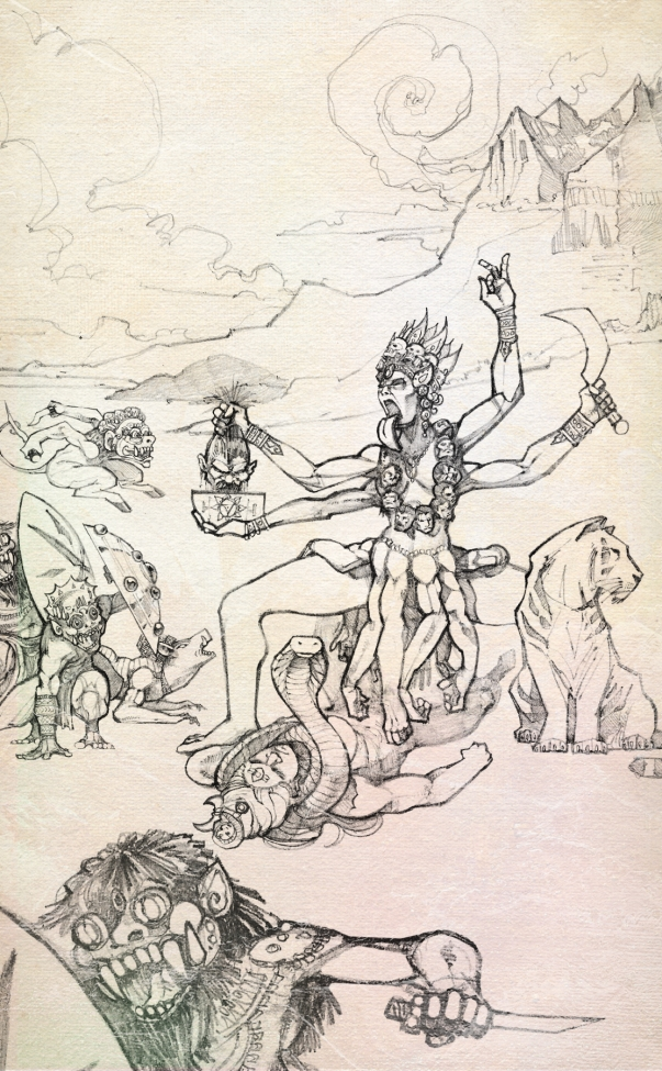 KALI DEFEATS THE DEMONS