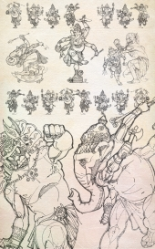 Lord Ganesha took 8 different avatars from time to time to kill monsters and demons that destroyed peace on Earth.