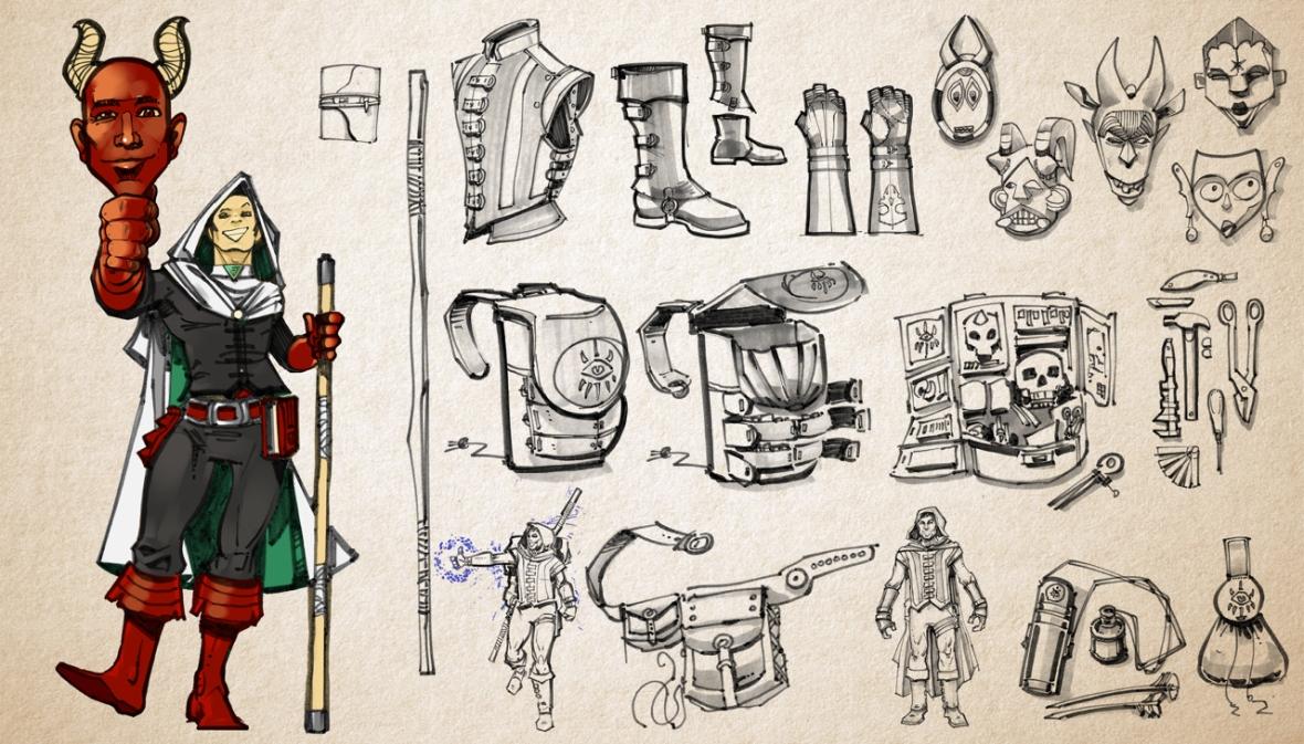 Geoff Bezos | Half-Elf Warlock and mask maker