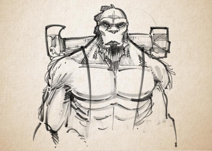 D&D Bigfoot Barbarian/Monk