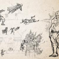 D&D Campaign Sketch | Flesh Golem