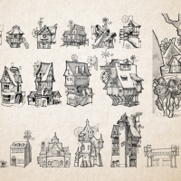 D&D Campaign Sketch | Windhollow Houses