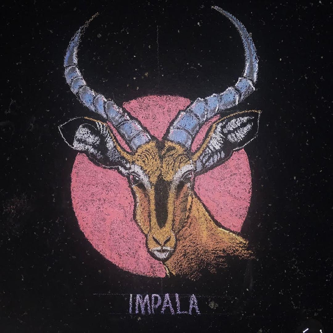 Chalk drawing Impala